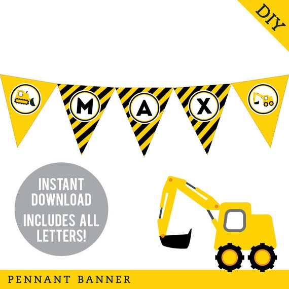 INSTANT DOWNLOAD Construction Party