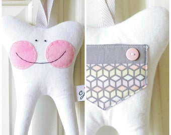 Tooth Fairy Pillow for a Girl (Emilia)-READY TO SHIP