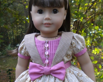 "All Season Dress for American Girl or other 18"" dolls"