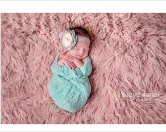 STRETCH WRAP- SEA MiST Color--Newborn Photo Prop- photography