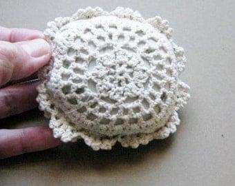 Crochet Lace Catnip Pillow with Organic Catnip - Cat Toy
