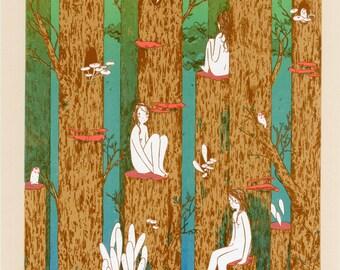 Forest Ghost silkscreen print