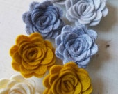 WOOL Felt Flowers-Vintage Pages Collection