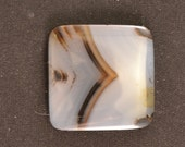 27mm square Montana agate cabochon