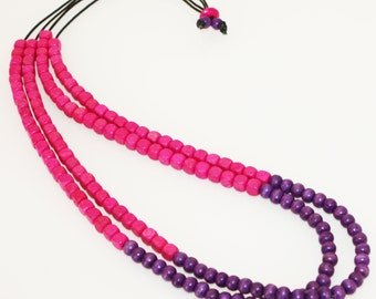 Tipped Off  Necklace || Pink & Purple
