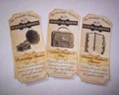 Wonderful Teacher's Survival Shoppe Steampunk  Apothecary Labels Set of 6