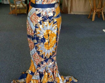 African Print Gown