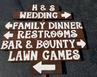 rustic wedding signs / reception sign / lawn games sign /restroom sign / photobooth sign /cake candy bar sign / outdoor signs / welcome sign