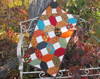 Forest Fancy Autumn Fall  X and O Table Runner