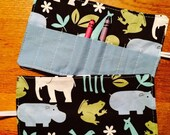 Spring sale sale sale Crayon Roll up zoo