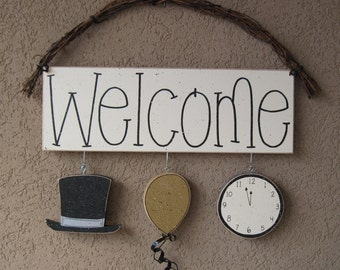 Welcome sign (New Years) for wall and home decor