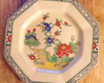 vintage. English 60s Masons Small Plate // Art Piece