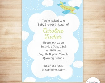 Airplane Baby Shower | Etsy