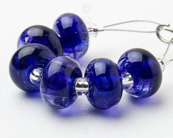 Hyacinth Spacer Swirl - Handmade Lampwork Glass Beads by Sarah Downton