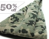 50% off - Green Camo Headband Camouflage Headband Corduroy Fabric Headband Headwrap Headscarf Head Wrap for Women Hair Bandana (#4285) S M L