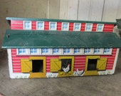 Vintage Marx Chicken Coop Tin Litho Farm PlaysetToy Building
