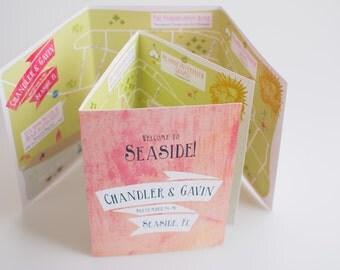 Custom Wedding Map with Itinerary (Tri-Fold) -- Seaside, FL