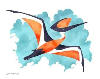 Pterosaur- Fine Art Prehistoric Print