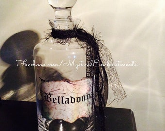 Large glass decanter Witches Belladonna