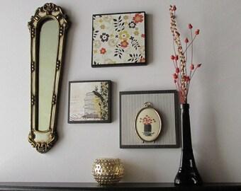 wall art collage -  Midnight in Paris - a 4 piece arrangement -  wall gallery - home decor
