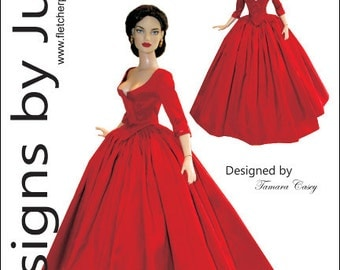 Outlander Claire Dress Pattern for Tyler Wentworth Dolls Tonner