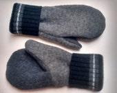 Etsy Men's Mittens, recycled sweaters, fleece lined mittens, felted wool mittens, etsy sweater mittens, felt mittens, felted wool