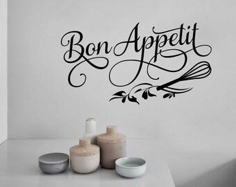 Bon Appetit Kitchen Letters, Vinyl Wall Lettering, Vinyl Wall Decals, Vinyl Decals, Vinyl Letters, Wall Quotes, Kitchen Decal