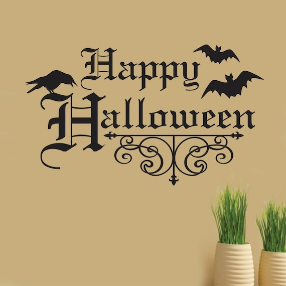 Happy Halloween Quotes Funny: Items Similar To Happy Halloween Iron Scroll Raven