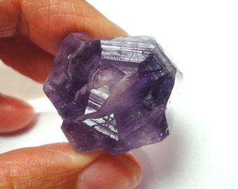 Amethyst Crystal Point Rough Amethyst Crystal Specimen Display Piece With Rare Hexagonal Crystal