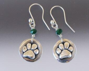 Dog Paw Earrings - Dog Paw - Paw Earrings - Dog Paw Jewelry - Paw Jewelry - Dog Jewelry - Animal Jewelry - Dog Lovers Jewelry