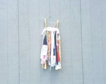 funky tattered tunic upcycled romantic Upcycled clothing Dress Eco Dress / Artsy Dress by CreoleSha