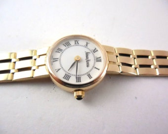 14K Gold Luxury Wristwatch 14K Band by  Waldan Creation For Neiman Marcus
