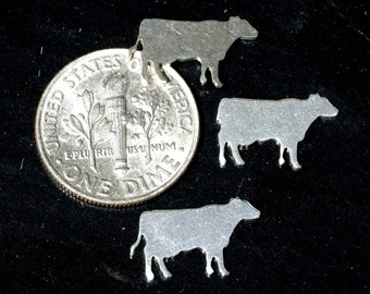 My MOST Tiny Cow Blank Cutout for 24g Metalworking Soldering Stamping Texturing Blanks