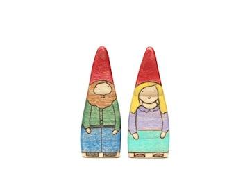 wooden gnome toys, waldorf gnomes, gnome figurine, wooden waldorf toys, wooden doll