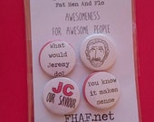 Jeremy Corbyn Badges// 25mm pin badge//set of four