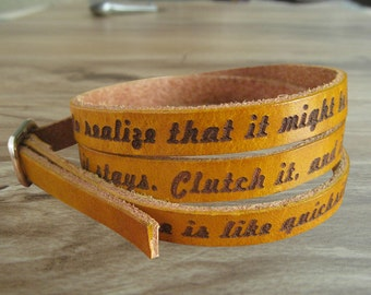Custom bracelet leather bracelet  leather cuff  engraved bracelet wraps wholesale