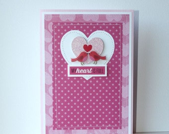 Lovebirds Handmade Card