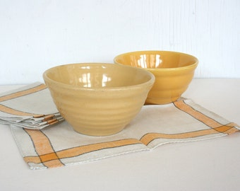 Yellow Bauer ring ware bowl. Mix and serve.