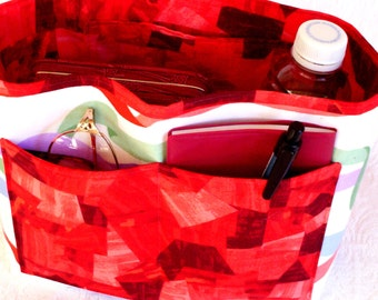 Removable Insert, Handbag Stuffer, Organizer Insert Bag, Fabric Insert Organizer, Purse Insert Liner, Pocketbook Insert, Handmade Organizer