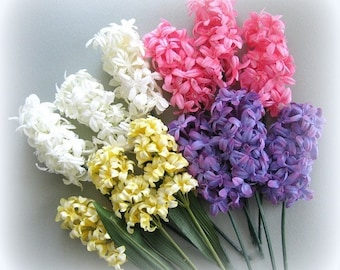 Pink White Yellow Purple Lavender Flower Stems 2 Artificial Silk Flower Supply Floral Supply Artificial Flower Decor Spring Flower Clusters