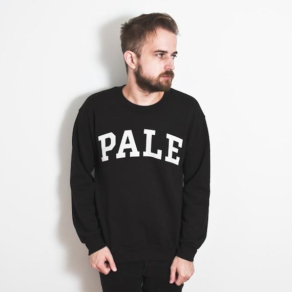PALE Sweater. Yale parody crewneck. Winter sweatshirt. Pale skin. University.