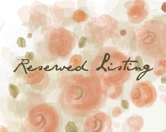 Custom Illustration - Reserved Listing for Lily