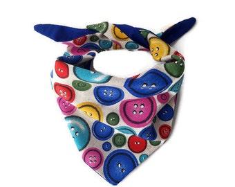 Buttons & Woof ! (Medium)– Dog Bandana/ Bandana/ Pet Bandana/ Pet accessory / Dog accessory
