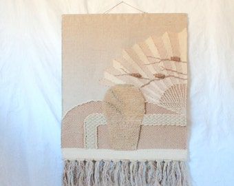 c1989 Large ICA Woven Natural Wall Art