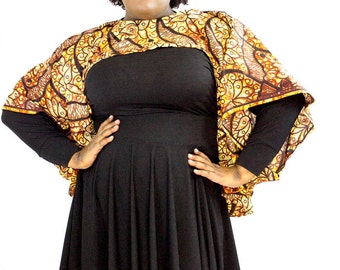 African Print Shrug - One Size
