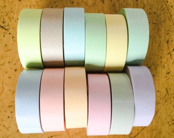 Washi tape set 12 pastel colors ORIGINAL MT BRAND 12pcs x 15mm x 10M