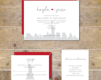 wedding invitations new york city nyc wedding heart wedding invitations city weddings