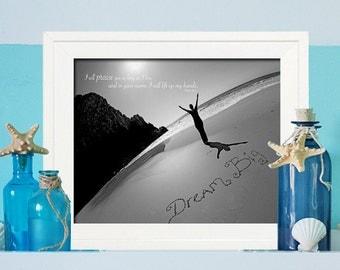 Teacher Gift - Baptism Gift -  Dream Big Sign - Beach Bathroom Decor - Beach Sign -  Beach Spa Sign  - Beach Decor - Beach Bedroom Decor -
