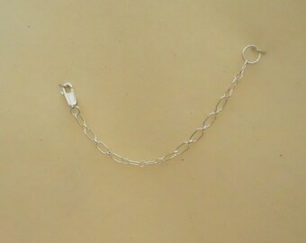 Long Sterling Silver Chain Necklace Extender (SSNE-123)