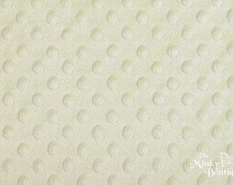Minky Dot Fabric - Mint